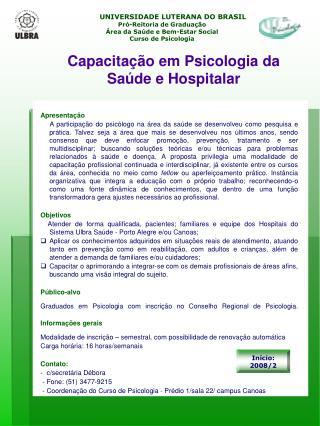 UNIVERSIDADE LUTERANA DO BRASIL Pró-Reitoria de Graduação
