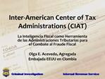 Inter-American Center of Tax Administrations CIAT