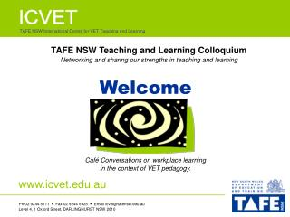 TAFE NSW International Centre for VET Teaching and Learning
