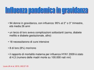 Influenza pandemica in gravidanza