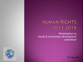 Human Rights  2013-2015