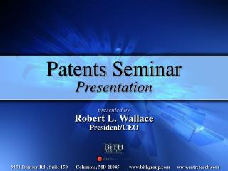 Patents Seminar Presentation