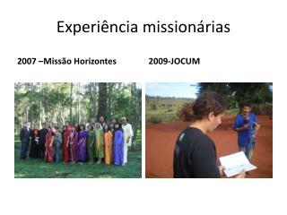 Experiência missionárias