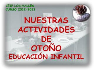 NUESTRAS ACTIVIDADES  DE  OTOÑO EDUCACIÓN INFANTIL