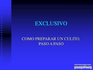 EXCLUSIVO