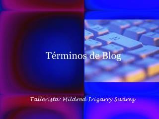 Términos de Blog