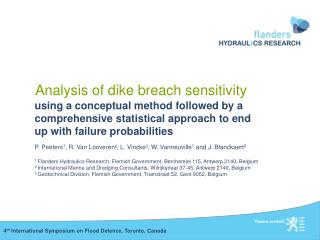 Analysis of dike breach sensitivity