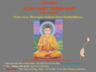 KÍNH MỪNG NGÀY PHẬT THÀNH ĐẠO Phật lịch 2552