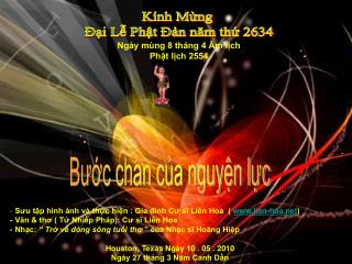Kính Mừng  Đại Lễ Phật Đản năm thứ 2634