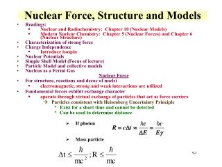 Nuclear Force, Structure and Models