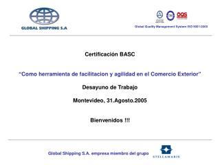 Global Shipping S.A. empresa miembro del grupo
