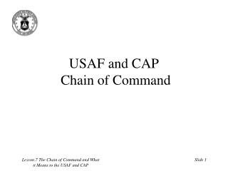 USAF and CAP  Chain of Command