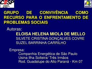GRUPO DE CONVIVÊNCIA COMO RECURSO PARA O ENFRENTAMENTO DE  PROBLEMAS SOCIAIS