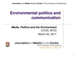 Environmental politics and communication