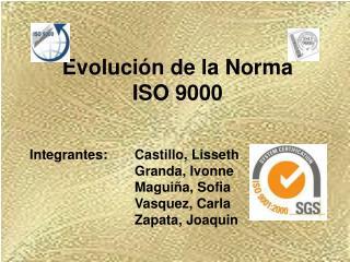 Evolución de la Norma  ISO 9000