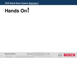 DCN Stand Alone System  Exercise 2