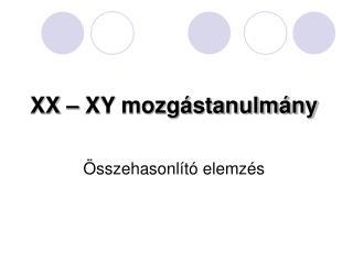 XX – XY mozgástanulmány Összehasonlító elemzés