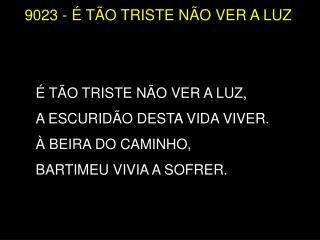 9023 - É  TÃO TRISTE NÃO VER A LUZ