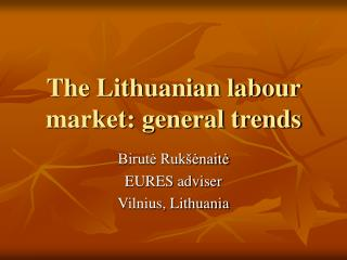 The Lithuanian labour market: general trends