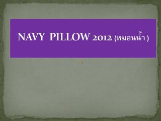 NAVY  PILLOW 2012  (??????? )