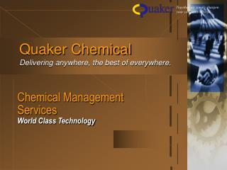 Chemical Management Services World Class Technology