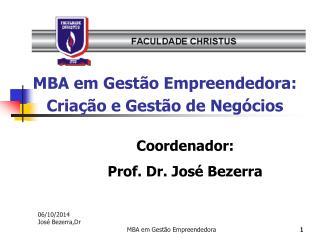 MBA em Gestão Empreendedora: Criação e Gestão de Negócios