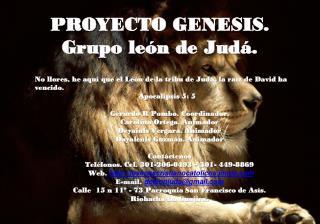 PROYECTO GENESIS. Grupo león de Judá.