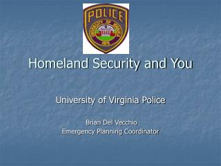 Homeland Security and You