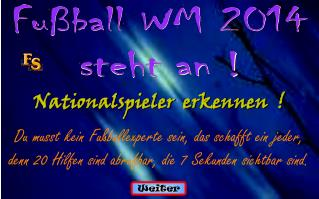 Fußball WM 2014 steht an !