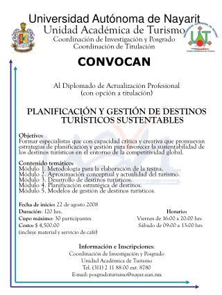 Al Diplomado de Actualización Profesional (con opción a titulación)