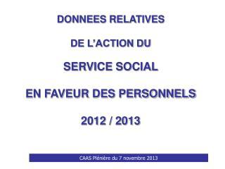 CAAS Plénière du 7 novembre 2013