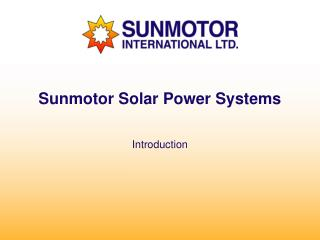 Sunmotor Solar Power Systems