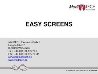 EASY SCREENS