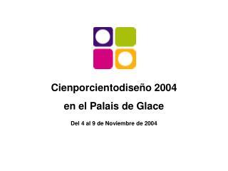 Cienporcientodiseño 2004 en el Palais de Glace
