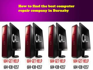 How to find the best computer repair company in Burnaby