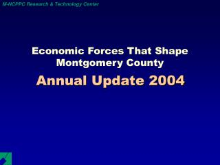 Economic Forces That Shape Montgomery County