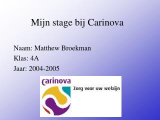 Mijn stage bij Carinova