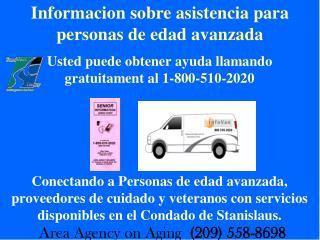 Informacion sobre asistencia para personas de edad avanzada