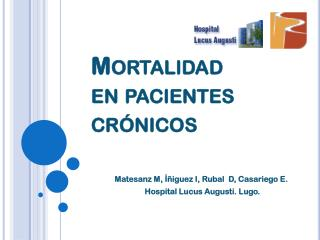 Mortalidad     en pacientes     crónicos