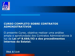 CURSO COMPLETO SOBRE CONTRATOS ADMINISTRATIVOS