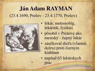 Ján Adam RAYMAN
