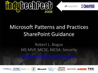 Microsoft Patterns and Practices SharePoint Guidance