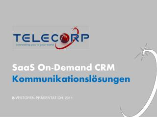 SaaS On-Demand CRM Kommunikationslösungen