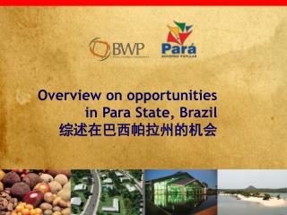 Overview on opportunities  in Para State, Brazil 综述在巴西帕拉州的机会