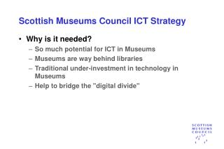 Scottish Museums Council ICT Strategy
