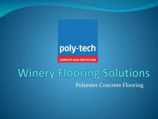 Winery Flooring Solutions
