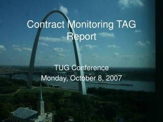 Contract Monitoring TAG Report