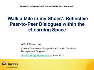 FLINDERS HUMAN BEHAVIOUR & HEALTH  RESEARCH UNIT