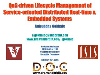 QoS-driven Lifecycle Management of Service-oriented Distributed Real-time  Embedded Systems