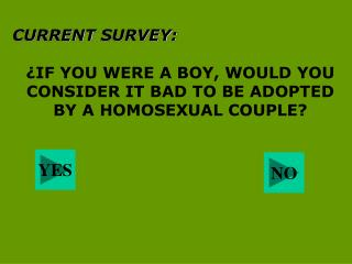 CURRENT SURVEY: